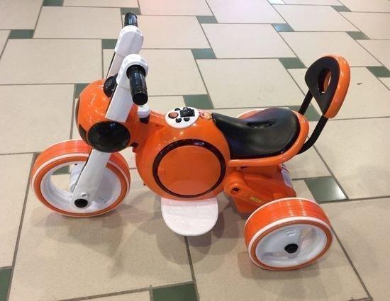 Электромотоцикл Bubble оранжевый (покраска глянец, музыка, свет, бардачок)