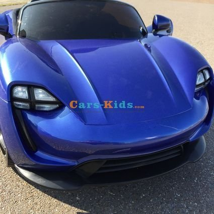 Электромобиль Porsche Sport М777МР синий (резиновые колеса, кожа, пульт, музыка, ГЛЯНЦЕВАЯ ПОКРАСКА)