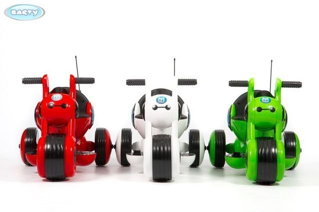 Детский электромотоцикл Y-MAXI YM77 красный (музыка, световые эффекты, мягкие колеса EVA)