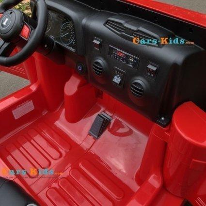 Электромобиль Jeep Hunter 4WD CH9938 (2х местный, полный привод, колеса резина, кресло кожа, пульт, музыка)