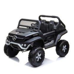 Электромобиль Mercedes-Benz Unimog Concept P555BP 4WD черный (полный привод, колеса резина, кресло кожа, пульт, музыка)