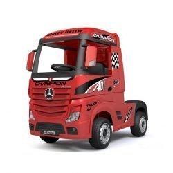 Электромобиль Mercedes-Benz Actros (HL358) 4WD вишневый глянец (колеса резина, кресло кожа, пульт, музыка)